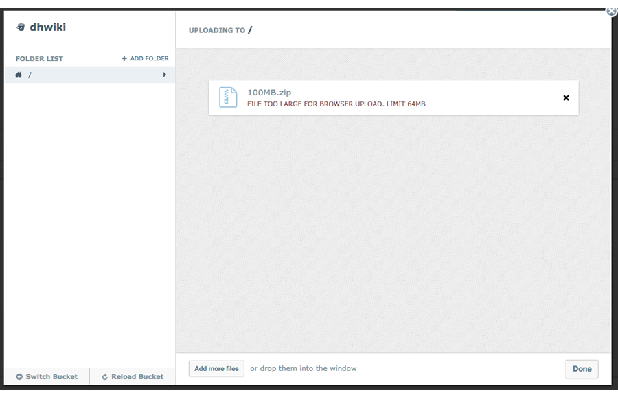 Uploading a file from the DreamHost panel into DreamObjects – DreamHost
